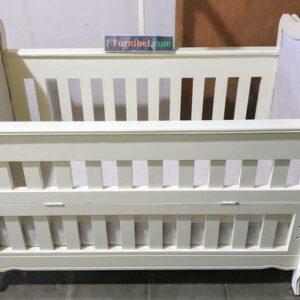 Box Tempat Tidur Bayi Minimalis Klasik Duco Putih