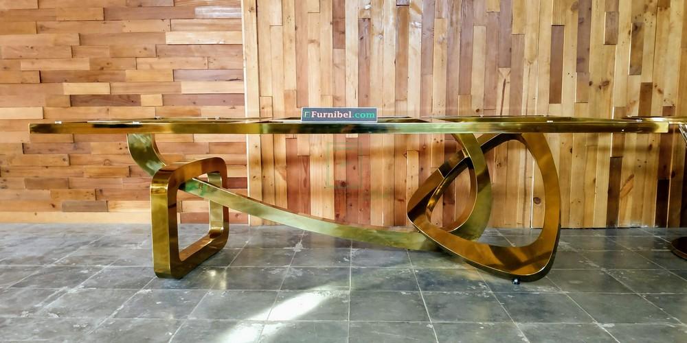 Meja Makan Marmer Stainless Custom Kantor Surabaya